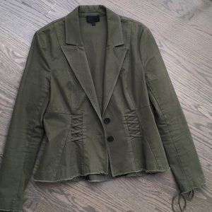 Intermix size large army green jacket